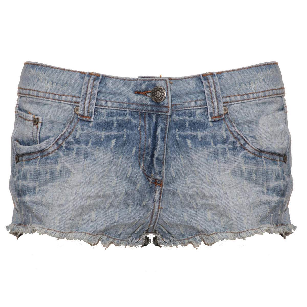 SIZE 14 ONLY Denim Distressed Cut Off Short Preview
